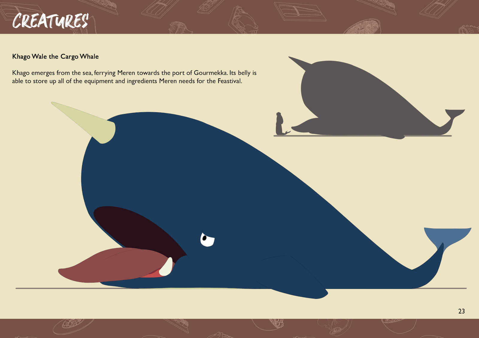 Whale with horn