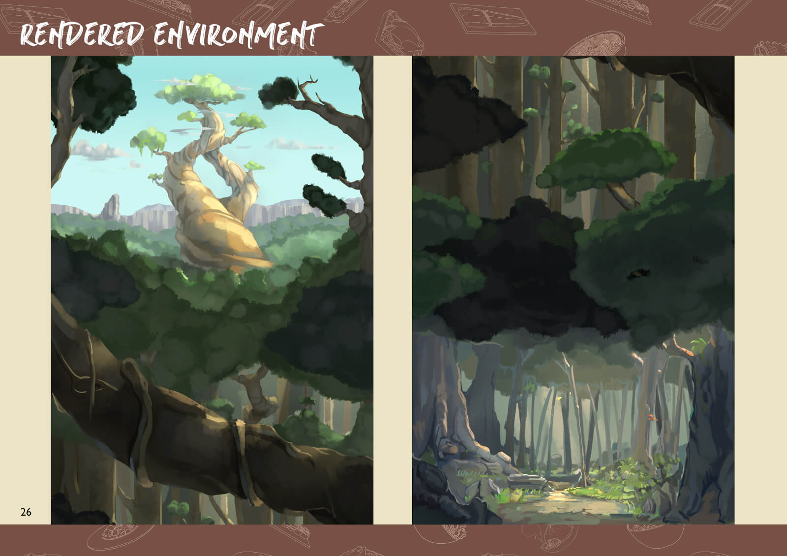 Forest environment painted art