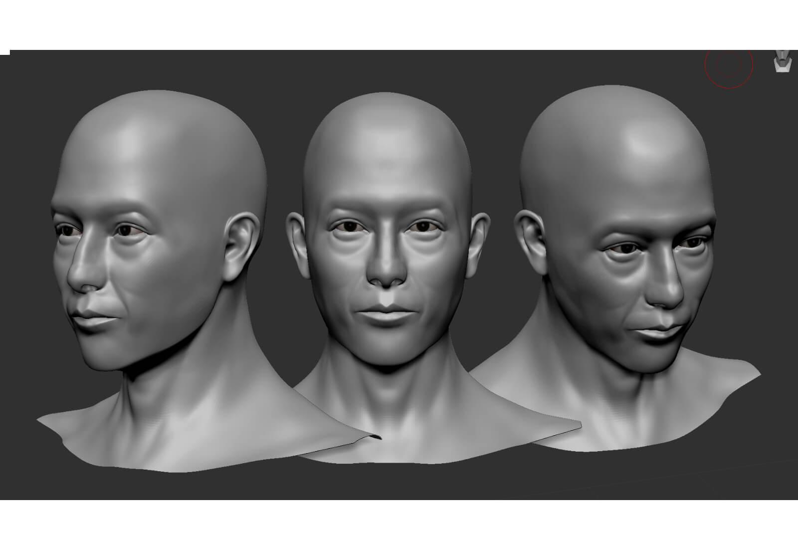 3D model of a man's head