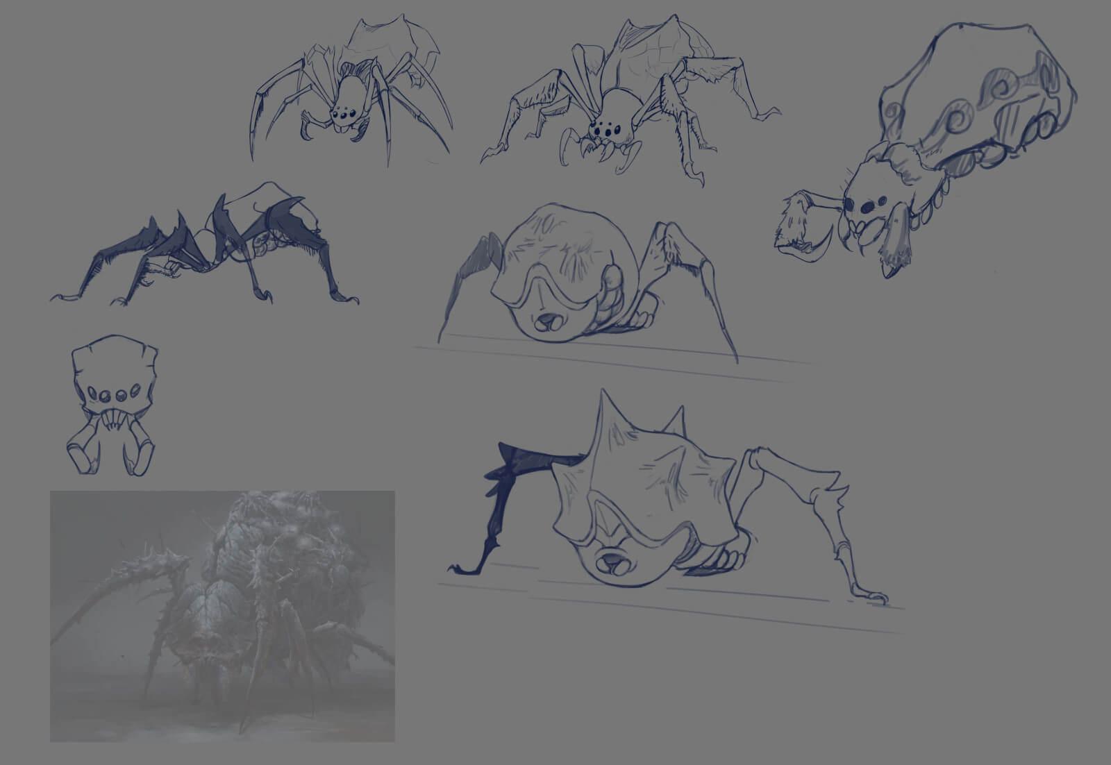Spider monster sketches