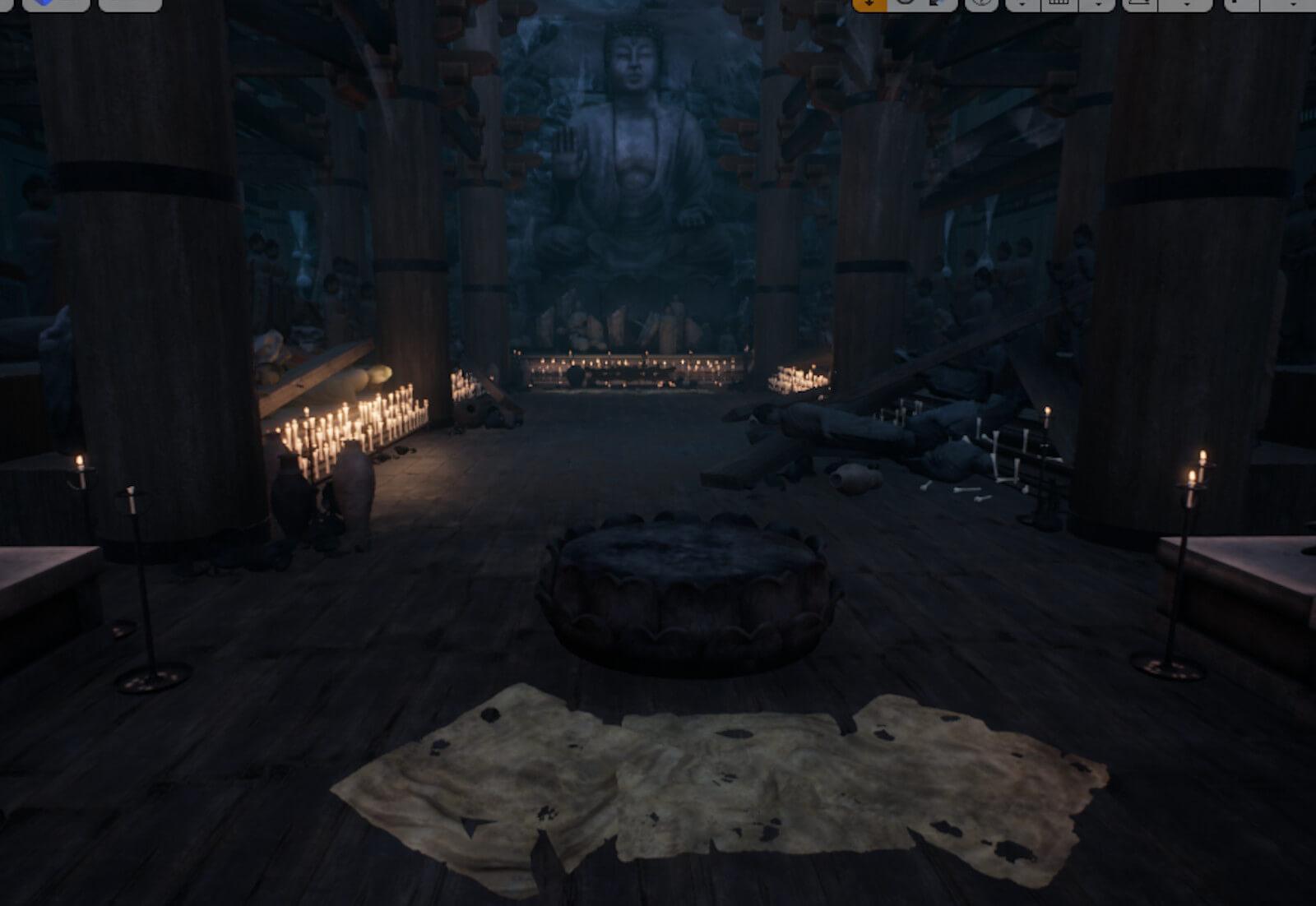 3D temple environment
