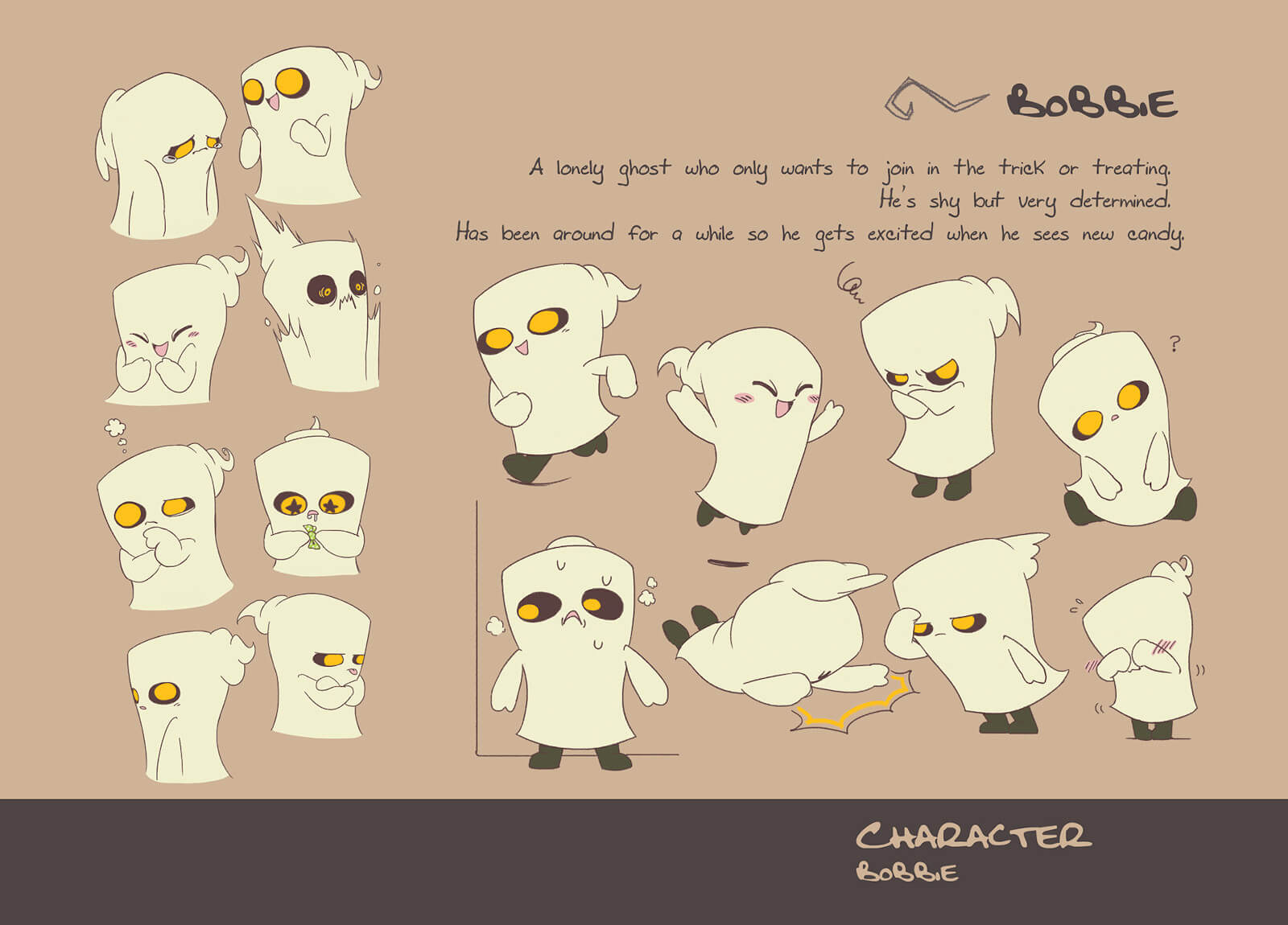 Character art for Bobbie the ghost child