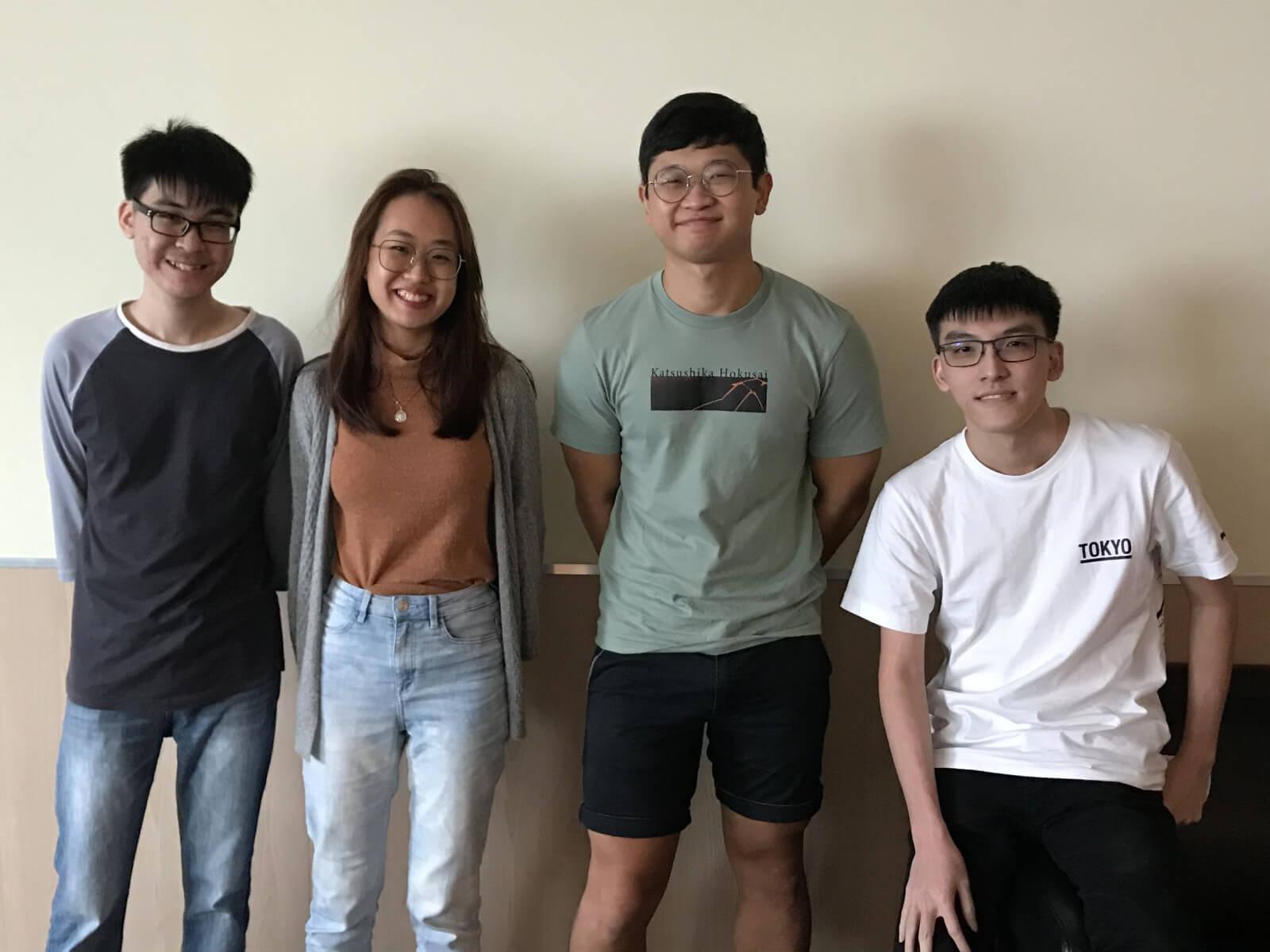 DigiPen (Singapore) students Wee Ding Wei, Lim Ziyi Jean, Ng Li Wang Ryan, and Malcolm Lim Hong Cheng.