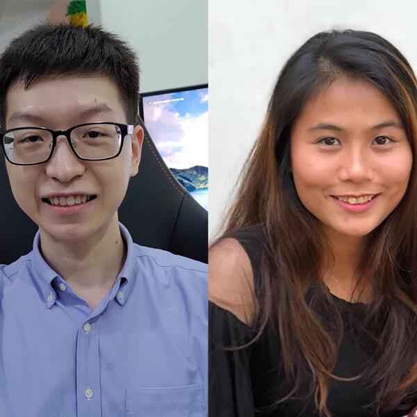Portraits of Chin Wei Boon and Noor Syahirah Binte Kamaruddin
