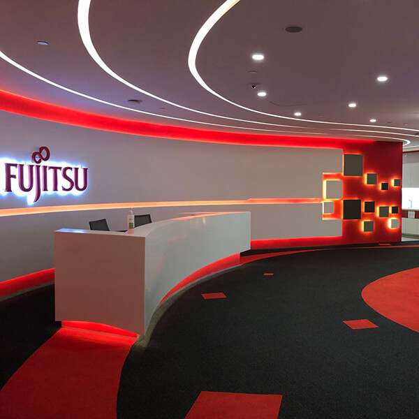 Fujitsu Asia lobby interior
