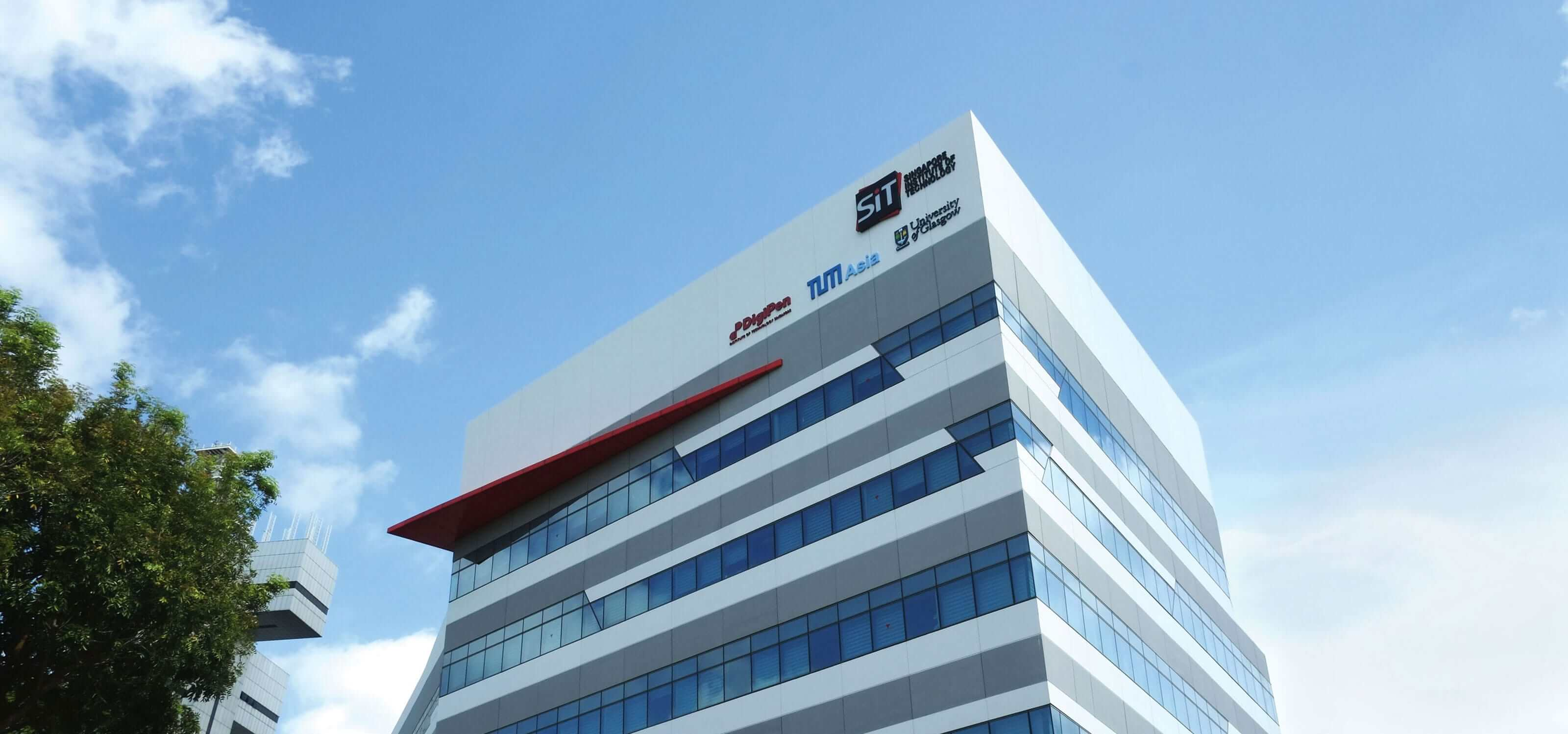 Picture of the exterior of the DigiPen (Singapore) campus building